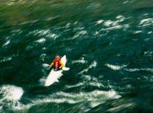 Riding the Rapids in California Stock Photo