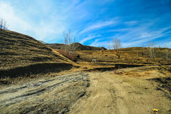 Riding road in muktinath, Nepal Royalty Free Stock Photography