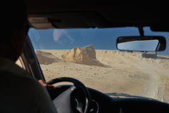 Riding in the Sahara Desert Royalty Free Stock Photos