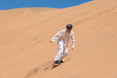 Riding on sand stock images