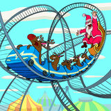 Riding Santa Claus Royalty Free Stock Photography