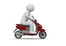 Riding a scooter Stock Photography