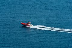 Riding sea boat Royalty Free Stock Images