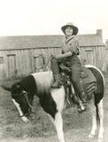 Riding side saddle Royalty Free Stock Photography