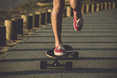 Riding a skate Stock Photography