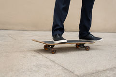Riding on skateboard Royalty Free Stock Photography