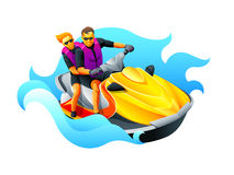 Riding ski jet Royalty Free Stock Photography