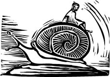 Riding a Snail Royalty Free Stock Photos