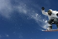 Riding snowboard man Royalty Free Stock Photography
