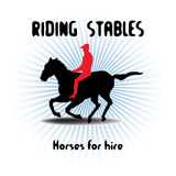 Riding stables Stock Photo