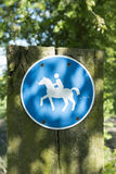 Riding trail Royalty Free Stock Photo