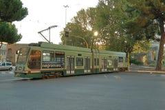 Riding tram at the Piazza Di Porta Maggiore. Rome, Italy. Royalty Free Stock Photo