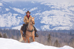 Riding up the ridge Stock Photography