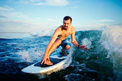 Riding on waves Royalty Free Stock Image