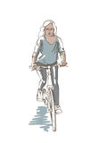 Riding Woman Sketch Royalty Free Stock Photos