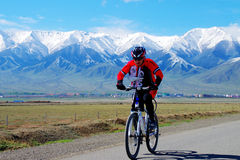 Riding in Xinjiang Tianshan grassland Stock Image