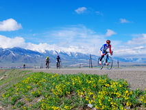 Riding in Xinjiang Tianshan grassland Royalty Free Stock Photography