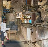 Ridnaun Valley Ridanna in South Tyrol, Italy - may 27,2017: interior hall of South Tyrol mining Museum. the miners` tools in mi. Nes stock images