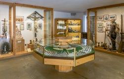 Ridnaunvallei Ridanna in Zuid-Tirol, Italië - kan 27.2017: Mijnbouwmuseum de Zuid- van Tirol De mijn ridanna-Monteneve was in ope Stock Fotografie