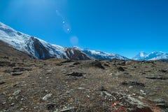 Ridningväg i Kagbeni, Nepal Arkivfoton