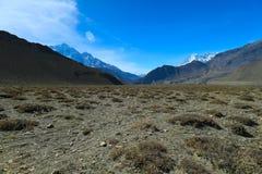 Ridningväg i Kagbeni, Nepal Arkivfoto