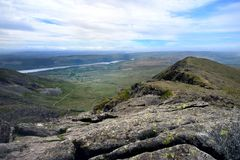 RidThebygden av Furness från Dow Crag royaltyfri foto