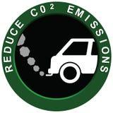 Riduca il veicolo delle emissioni di carbonio Immagine Stock