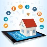 Riduca in pani il sistema della tecnologia della casa intelligente e del PC con il raggiro centralizzato illustrazione di stock