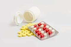 Riduce in pani il colore degli antibiotici Immagine Stock