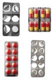 Riduce in pani la medicina di sanità delle pillole Immagini Stock