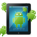 Ridurre in pani del Android Fotografia Stock