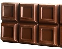 Ridurre in pani del cioccolato Fotografia Stock Libera da Diritti