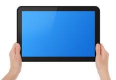 Ridurre in pani dello schermo di tocco della holding Fotografia Stock Libera da Diritti