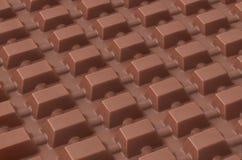 Ridurre in pani di cioccolato Fotografia Stock Libera da Diritti