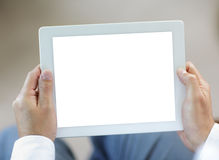 Ridurre in pani di Digitahi con lo schermo in bianco Fotografia Stock