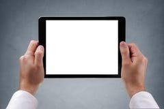 Ridurre in pani di Digitahi con lo schermo in bianco Immagine Stock Libera da Diritti