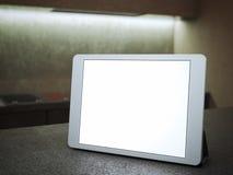 Ridurre in pani di Digitahi con lo schermo in bianco rappresentazione 3d Immagini Stock
