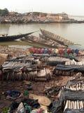 Ridurre in pani di sale impilati nelle Afriche occidentali Fotografie Stock