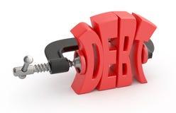 Riduzione di debito. Immagini Stock