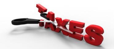 Riduzione di imposte Immagine Stock