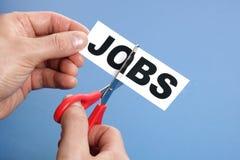 Riduzioni dei posti di lavoro Immagini Stock