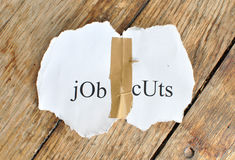Riduzioni dei posti di lavoro Fotografie Stock