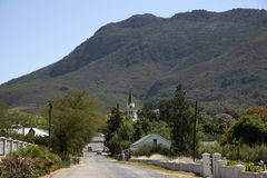 Riebeek Kasteel a small tow in South Africa Stock Photos