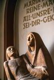 Rieden Германия 15 04 2018 интерьер простой церков с пустой святая мать Мария Стоковое Изображение RF
