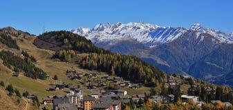 Riederalp, villaggio e centro di villeggiatura nel cantone del Valais, Switzerl Immagine Stock Libera da Diritti