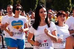 Rief traditioneller Massenmarathon 22 in Kiew Chestnut Run an Uniden Lizenzfreie Stockfotos