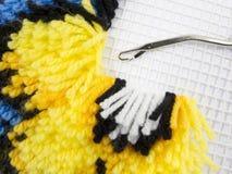 Riegel-Haken-Wolldeckeheftung Stockbild