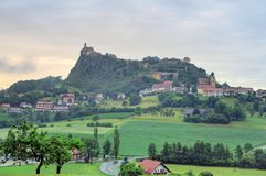Riegersburg Castle above the town of Riegersburg in Styria, Aust Royalty Free Stock Photos