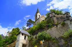 Riegersburg castle. Is a medieval castle situated on a dormant volcano above the town of Riegersburg in the Austrian state of Styria Royalty Free Stock Photography