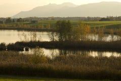 Riegsee湖在巴伐利亚 免版税图库摄影